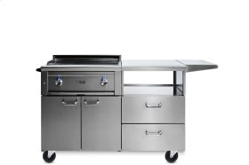 "30"" Asado Grill on Mobile Kitchen Cart NG"