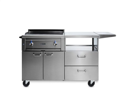 "30"" Asado Grill on Mobile Kitchen Cart LP"