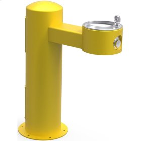 Elkay Outdoor Fountain Pedestal Non-Filtered Non-Refrigerated, Yellow