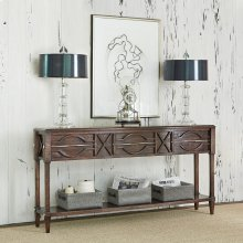 Spindle Console - Walnut