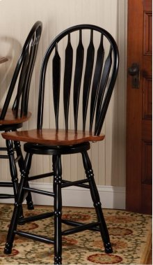 """Sunset Trading 24"""" Comfort Barstool in Antique Black and Cherry"""
