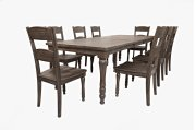 Madison County Ext Table With 4 Chairs - Barnwood Product Image