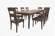 Madison County Ext Table With 6 Chairs - Barnwood