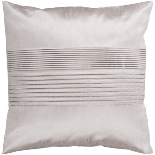 """Solid Pleated HH-015 22"""" x 22"""" Pillow Shell with Polyester Insert"""