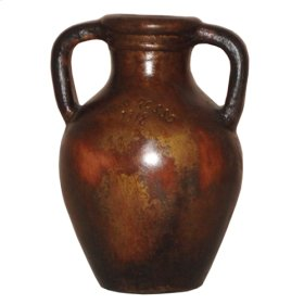 Antiqued Copper Small Red Vine Jar