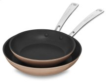 "Hard Anodized Non-Stick Twin Pack Skillet Set (8""/10"") - Toffee Delight"