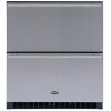 """White Interior Refrigerated Drawer - 80RDE, 30"""" Black Cabinet wtih BLACK full wrap doors and handles"""