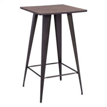 Titus Bar Table Rusty & Elm Wood Top