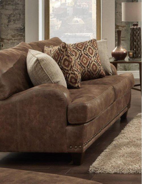 FRANKLIN 84820LS Indira Faux Leather Loveseat