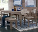 """36 x 66 Aspen Table 30""""H Gray Wash Product Image"""