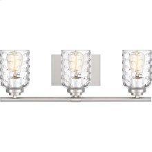 Cristal Vanity Light in Brushed Nickel