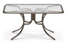 "32"" x 56"" Rectangular Dining Table w/ hole Ogee Rim"