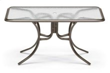 "32"" x 56"" Rectangular Dining Table w/ hole Ogee Rim"