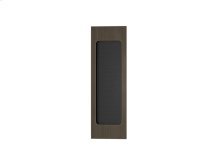 Rectangle Flush Pull Recess Leather In Black Tea And Vintage Patina