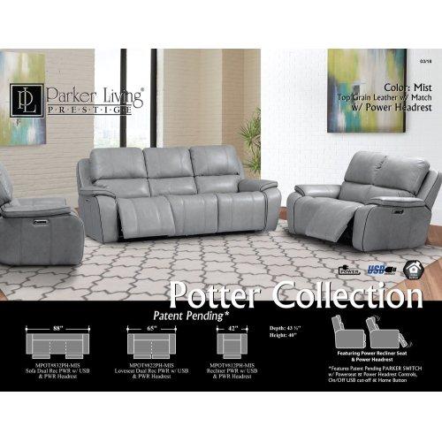 Potter Mist Power Sofa