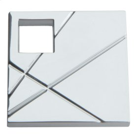 Modernist Right Square Knob 1 1/2 Inch - Polished Chrome