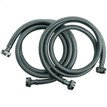 Braided Stainless Steel Washing Machine Hoses, 2 pk (4ft)