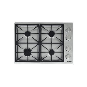 "Dacor30"" Dual Gas Cooktop, Natural Gas/High Altitude"