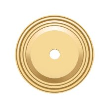 """Base Plate for Knobs, 1-1/2"""" Diam. - PVD Polished Brass"""