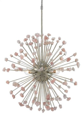 Quartz Moon Chandelier - 25rd x 32h Adjustable from 35 to 74h