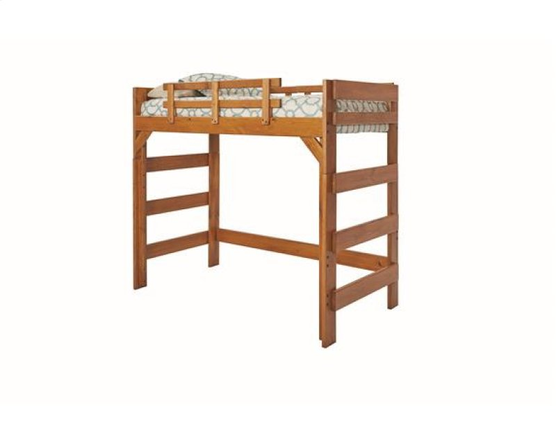 Heartland Twin Loft Bed With Options Honey Pine No Ladder