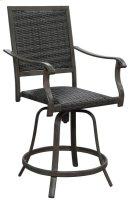 24'' Swivel Wicker Barstool- (2ea Per/ctn) Product Image
