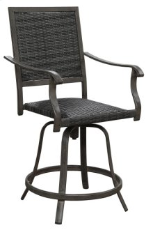 24'' Swivel Wicker Barstool- (2ea Per/ctn)