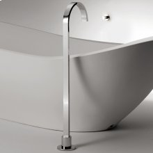 Floor-standing single-hole tub filler spout. Mixer sold separately.