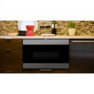 """24"""" Microwave Drawer , Stainless Steel, black glass finish, """"Easy Wave Open"""" Motion Sensor Product Image"""
