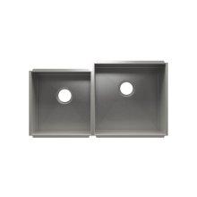 """UrbanEdge® 003641 - undermount stainless steel Kitchen sink , 15"""" × 16"""" × 8""""  18"""" × 18"""" × 10"""""""