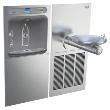 Elkay EZH2O Bottle Filling Station & SwirlFlo Single Fountain, High Efficiency Filtered 8 GPH Stainless