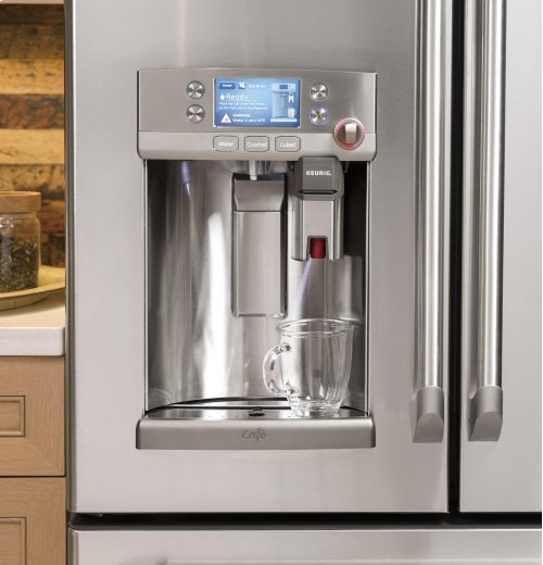 GE Cafe Series ENERGY STAR® 27.8 Cu. Ft. French-Door Refrigerator with Keurig® K-Cup® Brewing System --Available Now!--