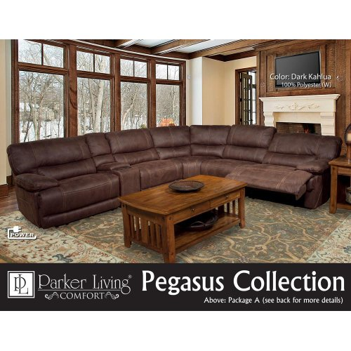Pegasus Dark Kahlua Manual Armless Recliner