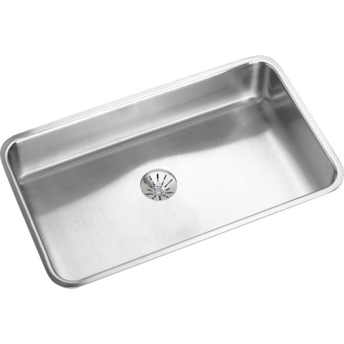 "Elkay Lustertone Classic Stainless Steel, 30-1/2"" x 18-1/2"" x 4-7/8"", Single Bowl Undermount ADA Sink w/Perfect Drain"