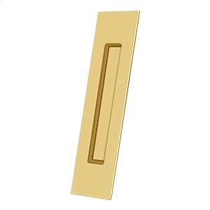 "Flush Pull, Rectangular, HD, 10""x 2-1/4""x 1/2"", Solid Brass - PVD Polished Brass Product Image"
