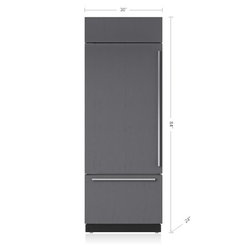 "30"" Classic Over-and-Under Refrigerator/Freezer - Panel Ready"