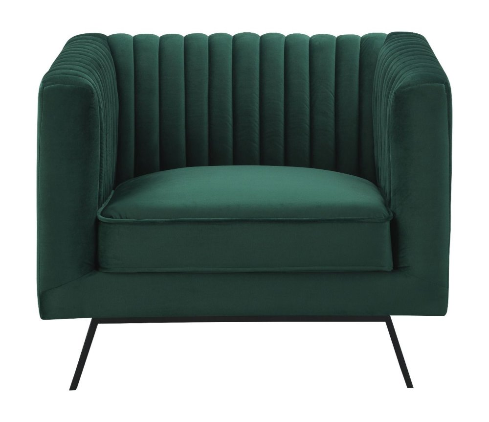 Vandam 1-Seat Hunter Green Velvet Armchair