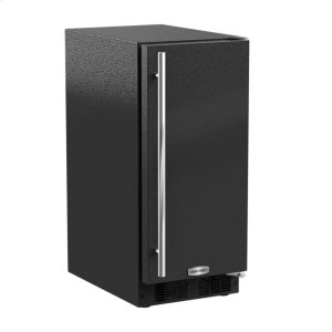 "Marvel15"" Marvel Clear Ice Machine with Arctic Illuminice Lighting - Gravity Drain - Black Door with Right Hinge"