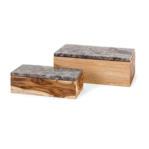 Napoleon Wood Boxes - Set of 2