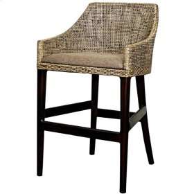 Orlanda Rattan Bar Stool Black Shadow Leg, Black Shadow