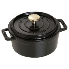 Staub Cast Iron 0.43-qt round Cocotte, Black