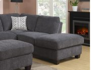 Right Side Facing Chaise Charcoal W/2 Pillow Product Image