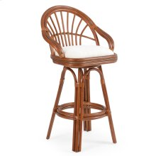 5500 Series Rattan Bar Height Stool Pecan Glaze
