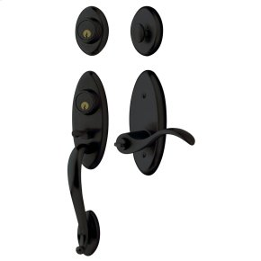 Satin Black Landon Two-Point Lock Handleset