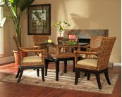 Biscayne Oval Dining Table w/Glass