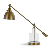 Glass Step Beaker Lamp (brass)