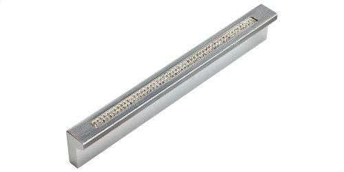 Crystal Bar Inset Thin Pull 3 3/4 Inch (c-c) - Matte Chrome