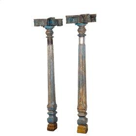 Wooden Pillar Set of 2