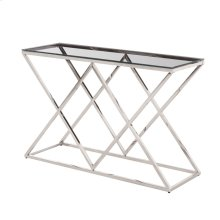 Silver/glass Diamond Console Table, Kd