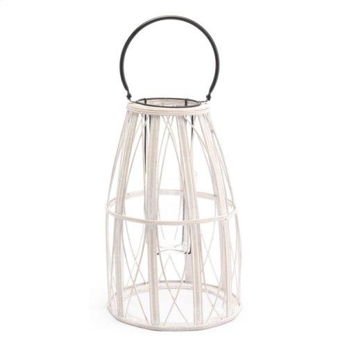 Web Lantern Sm White